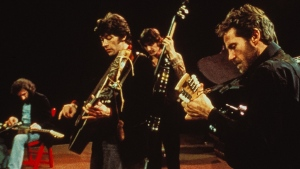 "A scene from the film ""The Last Waltz,"" directed by Martin Scorsese about the 1976 farewell concert for the music group ""The Band"", is seen in this undated photo provided August 8, 2019. The Toronto International Film Festival is doubling down on its celebration of hometown rock star Robbie Robertson with a special screening of ""The Last Waltz"", to be introduced by Robertson and director Martin Scorsese. Festival organizers say the longtime friends will introduce the classic 1978 concert film, which documents the star-studded farewell of Robertson's legendary group, the Band.THE CANADIAN PRESS/HO, TIFF"