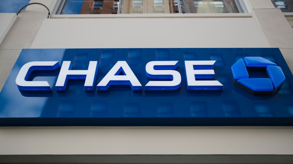 This Thursday, Nov. 29, 2018, photo shows a Chase bank location in Philadelphia. New York-based Chase Bank says it is forgiving all outstanding debt owed by users of its two Canadian credit cards. THE CANADIAN PRESS/AP/Matt Rourke