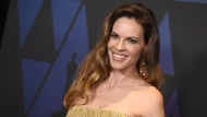 Universal Pictures has cancelled the planned September release of 'Hunt', a filmstarring Hilary Swank. (File Photo/Jordan Strauss/Invision/AP)