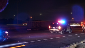Two people killed after a multi-vehicle collision on Highway 401 in