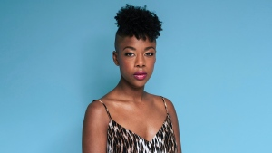 "This June 28, 2019, photo shows Samira Wiley posing for a portrait in New York to promote the seventh season of ""Orange is the New Black."" (Photo by Christopher Smith/Invision/AP)"