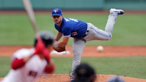Toronto Blue Jays starting pitcher Thomas Pannone delivers during the first inning of a baseball game against the Boston Red Sox at Fenway Park in Boston, Thursday, July 18, 2019. The Blue Jays will open their 2020 season with a four-game home series against the division rival Boston Red Sox.THE CANADIAN PRESS/AP/Charles Krupa