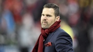 Toronto FC head coach Greg Vanney looks on during second half MLS Cup Final soccer action against the Seattle Sounders in Toronto on Saturday, December 9, 2017. THE CANADIAN PRESS/Frank Gunn