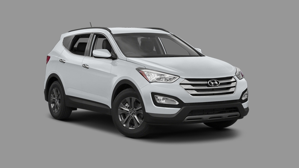Police said the suspect has stolen a 2013 white Hyundai Sante Fe SUV with license plate AYVL 950.  (Peel police)