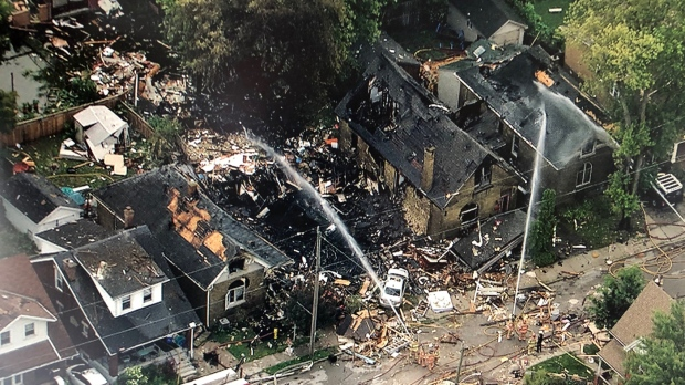 London house explosion