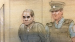 Alek Minassian, 26, appeared in court this morning over the alleged Toronto van attack in April last year. (John Mantha)