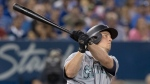 Seattle Mariners' Kyle Seager hits a tie breaking solo home run against the Toronto Blue Jays in the eighth inning of their American League MLB baseball game in Toronto Saturday August 17, 2019. THE CANADIAN PRESS/Fred Thornhill