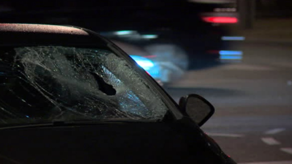Police investigate after a man was struck by a vehicle at the intersection of Finch Avenue and McCowan Road Saturday August 18, 2019.