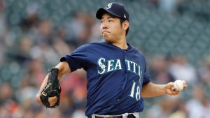 Starter Yusei Kikuchi threw a complete-game shutout, and his Seattle Mariners clubbed four home runs in a 7-0 win against the Toronto Blue Jays on Sunday. (File Photo/AP Photo/Carlos Osorio)