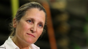 "Chrystia Freeland's statement prompted the spokesperson for the Chinese Embassy in Canada to fire back, calling for her to ""immediately stop meddling in Hong Kong affairs and China's internal affairs."" (FILE PHOTO/THE CANADIAN PRESS/Dave Chidley)"