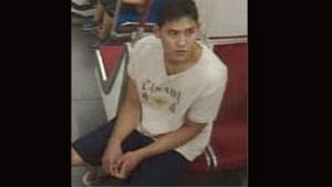 Police have released this image of a suspect who allegedly pulled out a knife on the subway over the weekend. (Toronto Police Service handout)