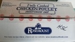 A package of recalled Rosemount brand cooked diced chicken meat is pictured. (CFIA/Handout)