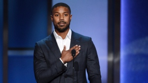"In this June 6, 2019, file photo, actor Michael B. Jordan makes a tribute to actor Denzel Washington during the 47th AFI Life Achievement Award ceremony honoring Washington in Los Angeles. The award-winning actor, director, and producer is the face of some of the most well-known films of the last few decades, including ""Fences,"" ""Man on Fire,"" ""Malcolm X,"" and ""The Book of Eli."" (Photo by Chris Pizzello/Invision/AP, File)"