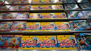 FILE-  The toy maker expects said Tuesday, Aug. 20, 2019, that all its packaging for new products to be virtually plastic free by the end of 2022. It plans to stop using plastic bags, elastic bands and the shrink wrap that's usually found around Monopoly, Scrabble and other board games. (AP Photo/David J. Phillip, File)