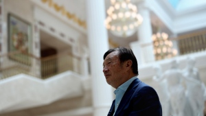 Chinese tech giant Huawei's founder Ren Zhengfei, speaks during an interview at the Huawei campus in Shenzhen in Southern China's Guangdong province on Tuesday, Aug. 20, 2019. Ren said he expects no relief from U.S. export curbs due to the political climate in Washington but expresses confidence the company will thrive with its own technology. (AP Photo/Ng Han Guan)