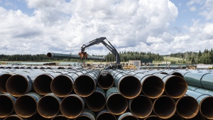 Trans Mountain Corp. has advised construction contractors to get ready for the restart of its pipeline expansion project to the west coast. THE CANADIAN PRESS/Jason Franson