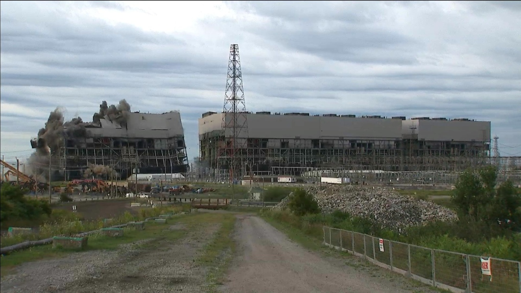 MUST WATCH: Nanticoke Generating Station reduced to pile of rubble