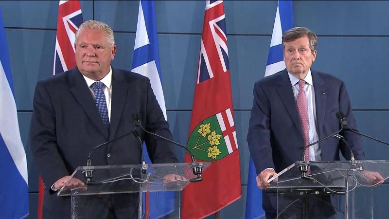 John Tory and Doug Ford