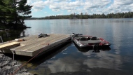 Police are investigating a collision between two boats on Stoney Lake on Aug. 25, 2019. (CTV News Toronto)