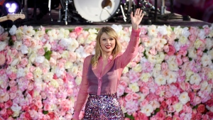 "Singer Taylor Swift performs on ABC's ""Good Morning America"" at Rumsey Playfield/SummerStage in Central Park on Thursday, Aug. 22, 2019, in New York. It's nice to have a friend in Taylor Swift. The pop star's latest album includes material performed by students at Toronto's Regent Park School of Music, with proceeds going to support musical education for children in high-priority neighbourhoods. THE CANADIAN PRESS/AP-Photo by Evan Agostini/Invision/AP"