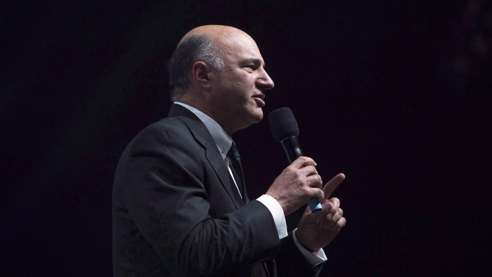 Canadian businessman Kevin O'Leary speaks during the Conservative Party of Canada convention in Vancouver, Friday, May 27, 2016.THE CANADIAN PRESS/Jonathan Hayward