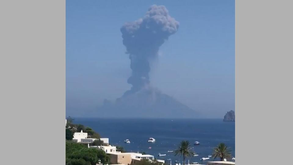 Italy's Stromboli volcano erupts, sparking huge ash cloud