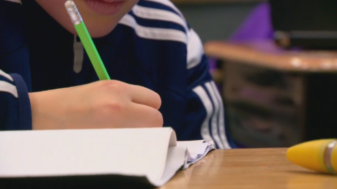 A student is seen working in a classroom in this file photo. (CTV News Toronto)