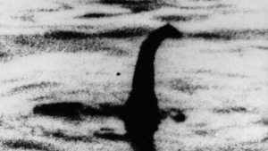 FILE - This undated file photo shows a shadowy shape that some people say is a the Loch Ness monster in Scotland. On Thursday, Sept. 5, 2019, scientist Neil Gemmell from the University of Otago in New Zealand says a project found a surprisingly high amount of eel DNA in the water. (AP Photo/File)