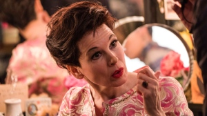 "This image released by Roadside Attractions shows Renée-Zellweger as Judy Garland in a scene from ""Judy,"" in theaters on Sept. 27. (David Hindley/Roadside Attractions via AP)"