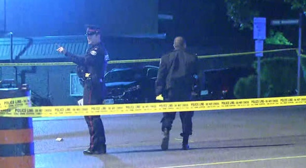 Toronto police are investigating after shots were fired on Tree Sparroway.