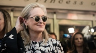 Celebrity News: Actor Meryl Streep is photographed n the red carpet for the film