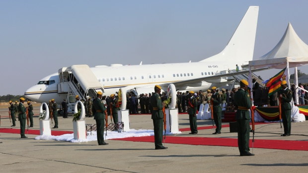 Robert Mugabe's body arrives in Zimbabwe