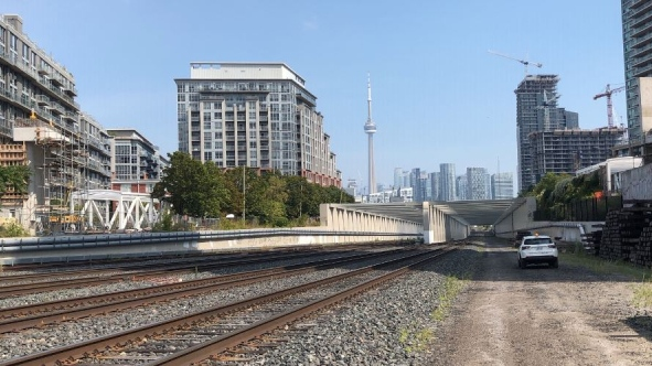 The bridge will serve as a vital connection accessed between Atlantic Ave. and Strachan Ave. (Metrolinx)