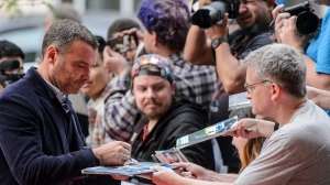 "Liev Schreiber arrives for the gala of the film ""Human Capital"" at the 2019 Toronto International Film Festival in Toronto, on Tuesday, September 10, 2019. THE CANADIAN PRESS/Andrew Lahodynskyj"
