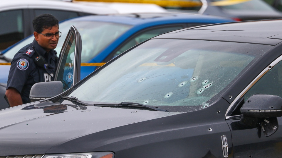 Police are investigating a shooting near Islington and Rexdale. (Tom Podolec)