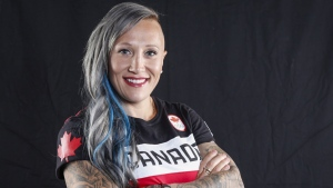 Canadian Olympic athlete Kaillie Humphries poses for a photo at the Olympic Summit in Calgary, Alta., Saturday, June 3, 2017. THE CANADIAN PRESS / Jeff McIntosh