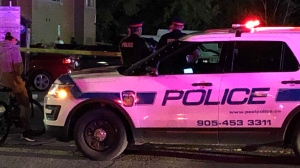 Peel police say one person is dead and four people are in hospital after a shooting in Mississauga. (Patrick Darrah)