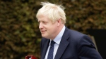 British Prime Minister Boris Johnson leaves after a meeting with Luxembourg's Prime Minister Xavier Bettel at the prime ministers office in Luxembourg, Monday, Sept. 16, 2019. (AP Photo/Olivier Matthys)