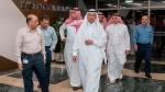In this Sunday, Sept. 15, 2019, photo released by Saudi Press Agency, SPA, Saudi Energy Minister Prince Abdulaziz bin Salman, center, visits the Saudi Aramco plants one day after the attacks in Abqaiq, Saudi Arabia. (Saudi Press Agency via AP)