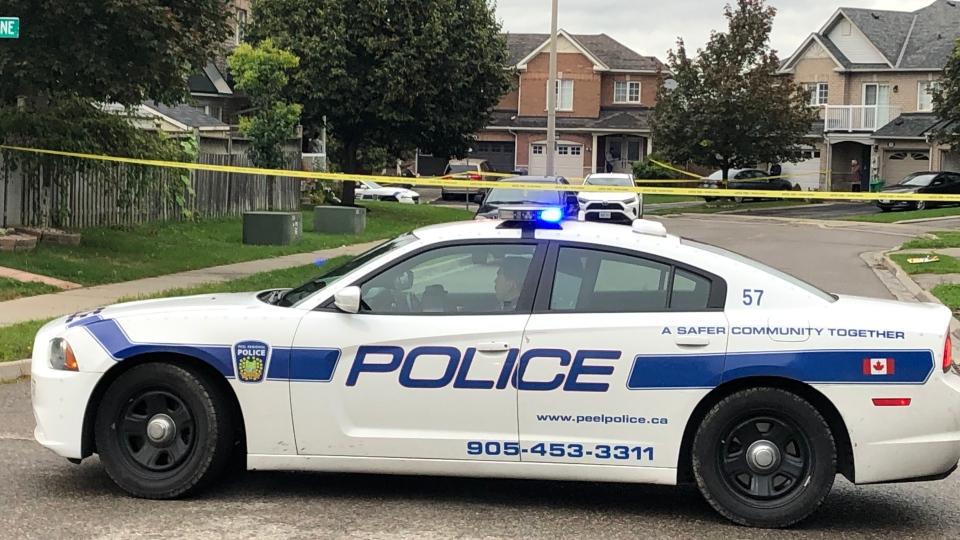 A woman suffered critical injuries following a disturbance at a home in Brampton. (Sean MacInnes/ CTV News Toronto)