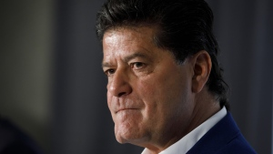 Unifor president Jerry Dias attends a press conference announcing GM's investment in the Oshawa assembly plant, in Toronto, Wednesday, May 8, 2019. THE CANADIAN PRESS/Cole Burston