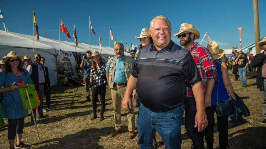 Ford blames Horwath for jeering crowd at plowing match
