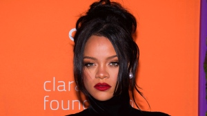 This Sept. 12, 2019 file photo shows Rihanna at the 5th annual Diamond Ball benefit gala in New York. (Photo by Charles Sykes/Invision/AP, File)