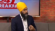 NDP Leader Jagmeet Singh speaks with CP24 on Thursday, Sept. 19.