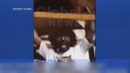 Justin Trudeau is seen wearing blackface in a short video clip from a video dating back to the early 1990s. (Source: Global)
