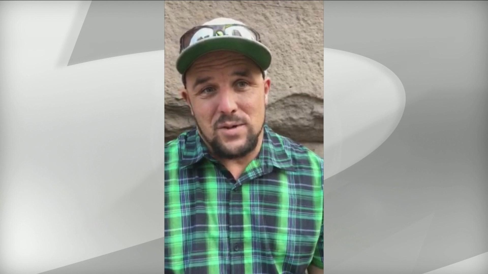 David Weaver speaks with CP24 outside a Toronto courthouse Thursday September 19, 2019 before pleading guilty to mischief in connection with an incident where he swam naked with sharks at Ripley's Aquarium.  (Steve Ryan /CP24)