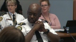 Toronto Police Chief Mark Saunders attended Thursday's police board meeting where members approved the collection of race-based data. (CP24)