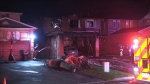 Toronto firefighters battled a two-alarm blaze in Scarborough. (CP24)