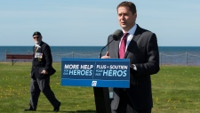 Federal Conservative leader Andrew Scheer makes a campaign stop in Canoe Cove, P.E.I. on Sunday, September 22, 2019. THE CANADIAN PRESS/Nathan Denette