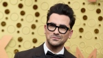 Dan Levy arrives at the 71st Primetime Emmy Awards on Sunday, Sept. 22, 2019, at the Microsoft Theater in Los Angeles. (Photo by Jordan Strauss/Invision/AP)